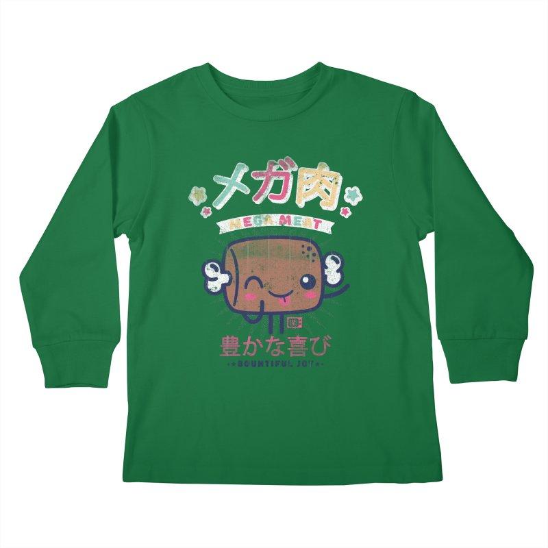 Mega Meat Kids Longsleeve T-Shirt by Saturday Morning Society