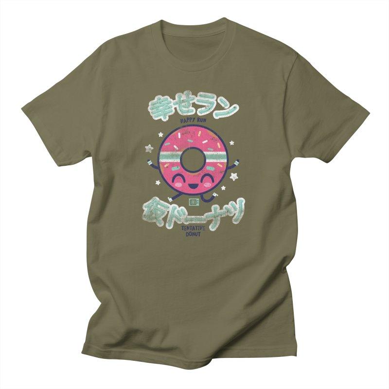 Happy Run Donut Men's T-Shirt by Saturday Morning Society