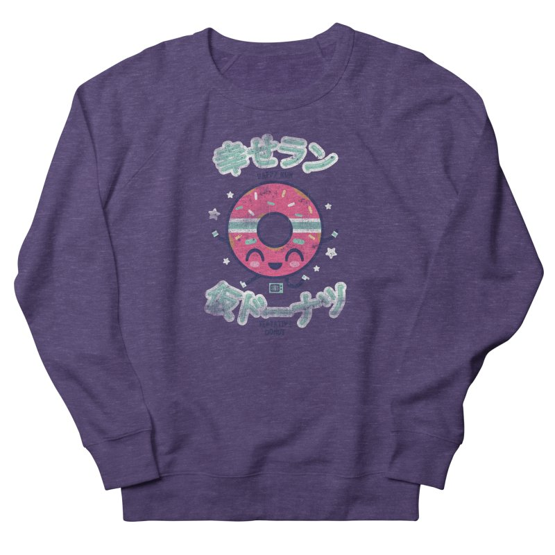 Happy Run Donut Women's Sweatshirt by Saturday Morning Society