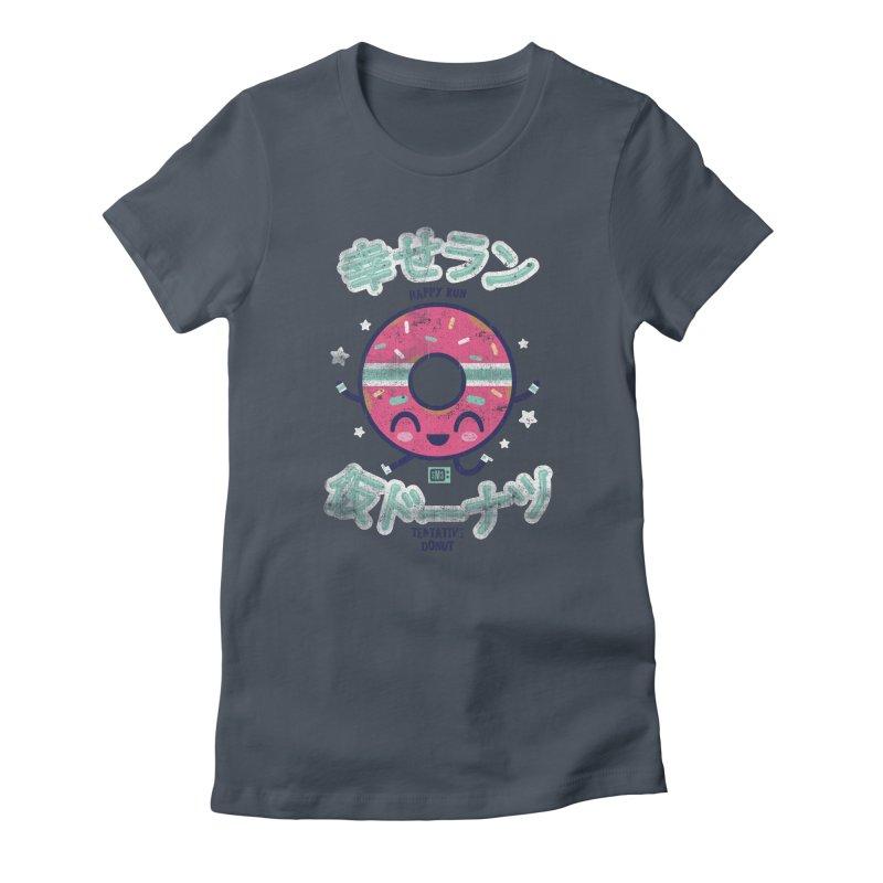Happy Run Donut Women's T-Shirt by Saturday Morning Society