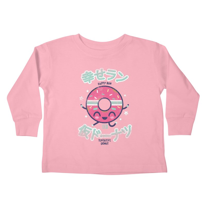 Happy Run Donut Kids Toddler Longsleeve T-Shirt by Saturday Morning Society