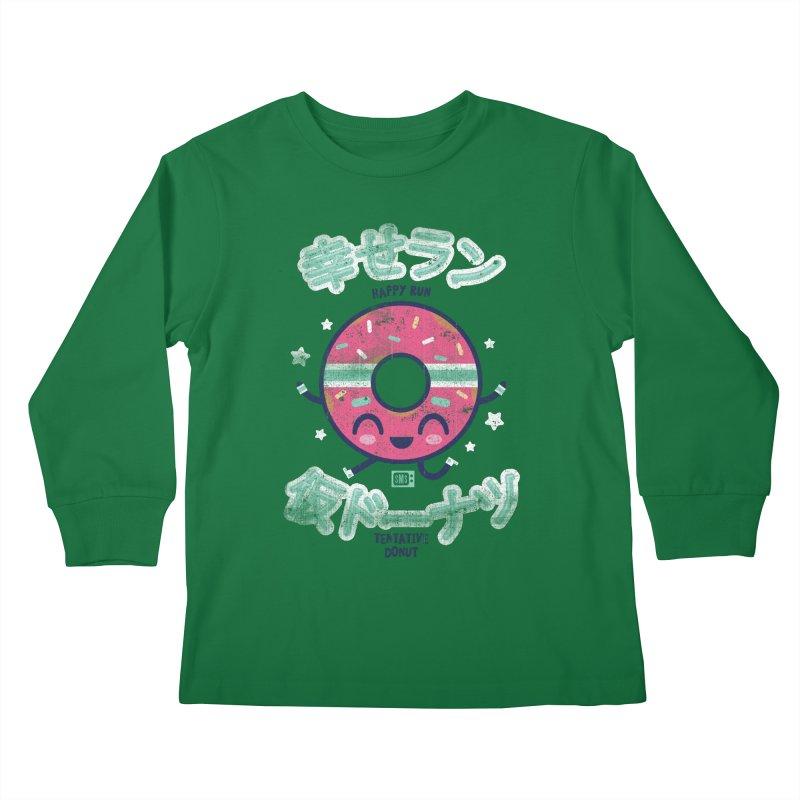 Happy Run Donut Kids Longsleeve T-Shirt by Saturday Morning Society