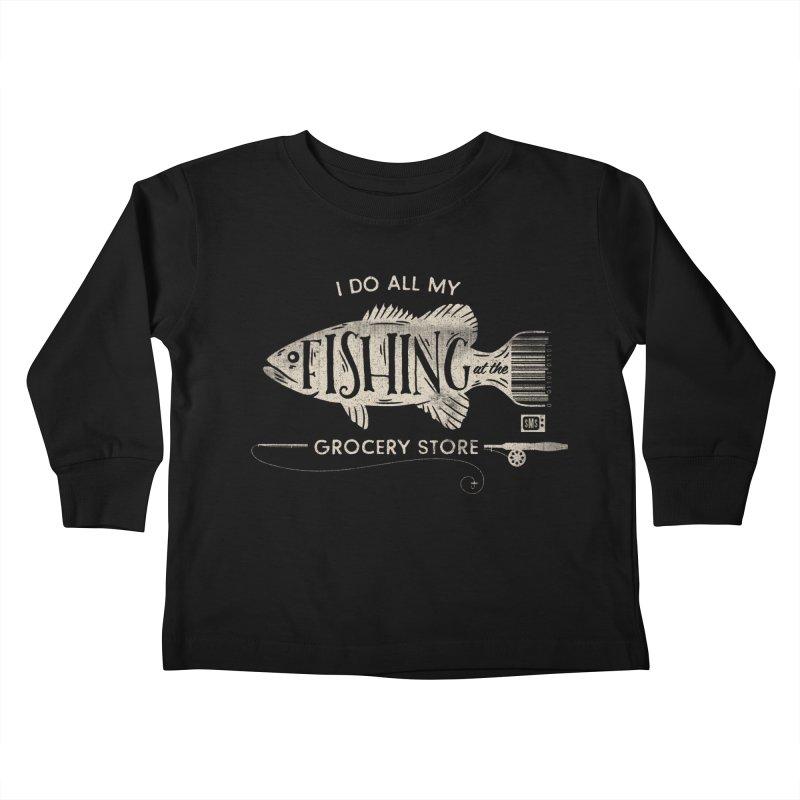 Fishin' Fo' Life Kids Toddler Longsleeve T-Shirt by Saturday Morning Society