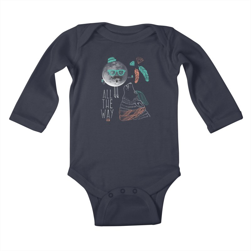 All the Way Kids Baby Longsleeve Bodysuit by Saturday Morning Society