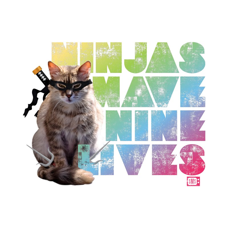 Ninjas Have Nine Lives Men's Sweatshirt by Saturday Morning Society