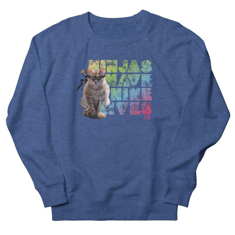 Ninjas Have Nine Lives Women's Sweatshirt by Saturday Morning Society