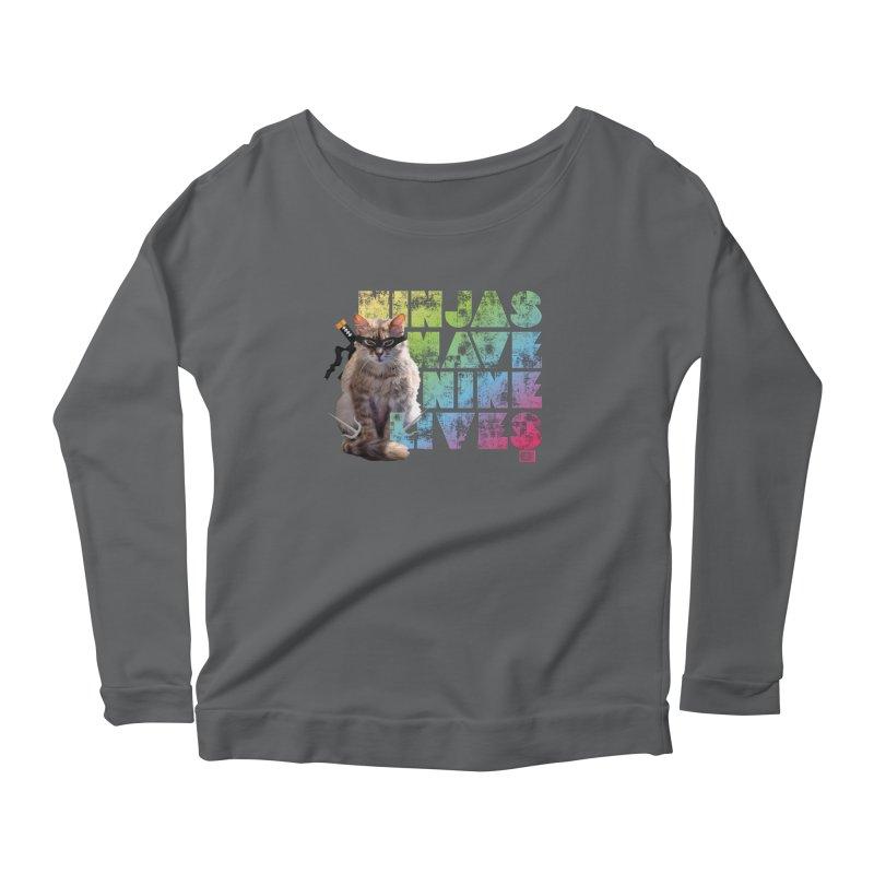 Ninjas Have Nine Lives Women's Longsleeve T-Shirt by Saturday Morning Society