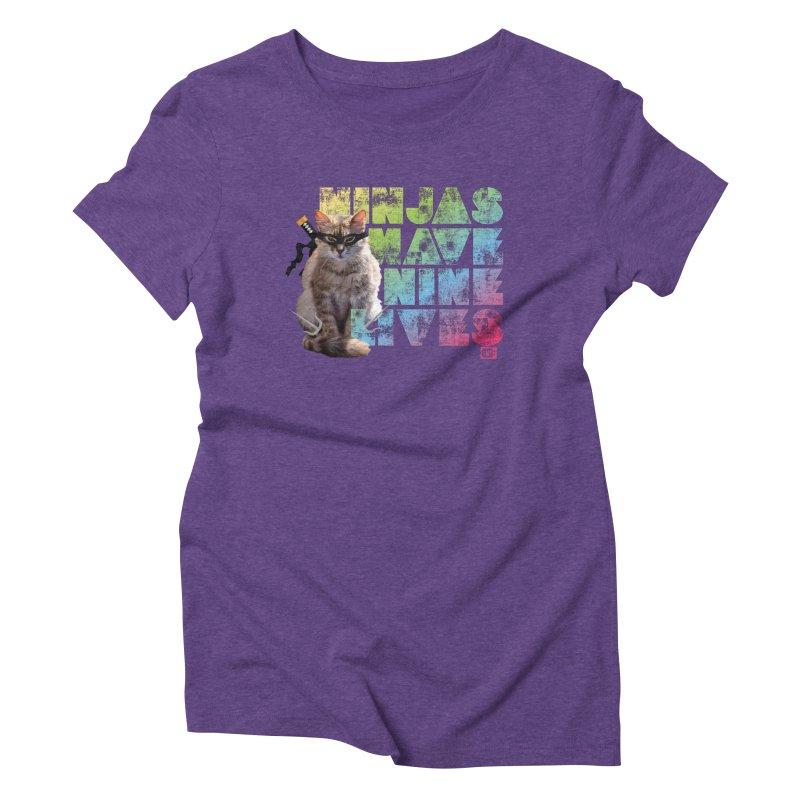 Ninjas Have Nine Lives Women's T-Shirt by Saturday Morning Society