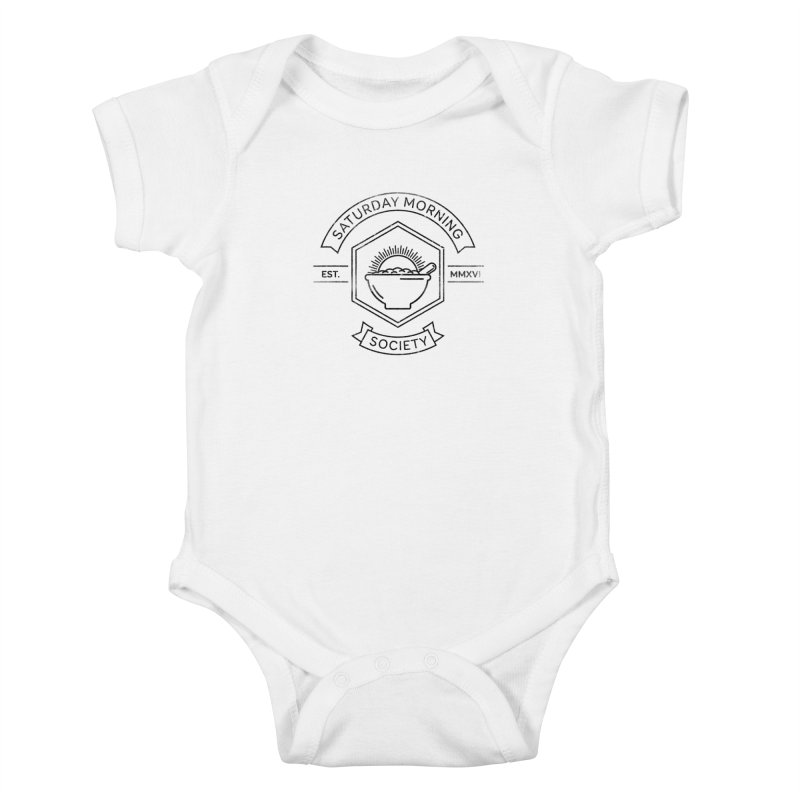 SMS Lineart Logo Kids Baby Bodysuit by Saturday Morning Society