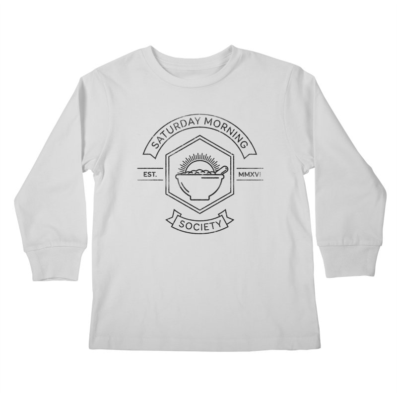 SMS Lineart Logo Kids Longsleeve T-Shirt by Saturday Morning Society