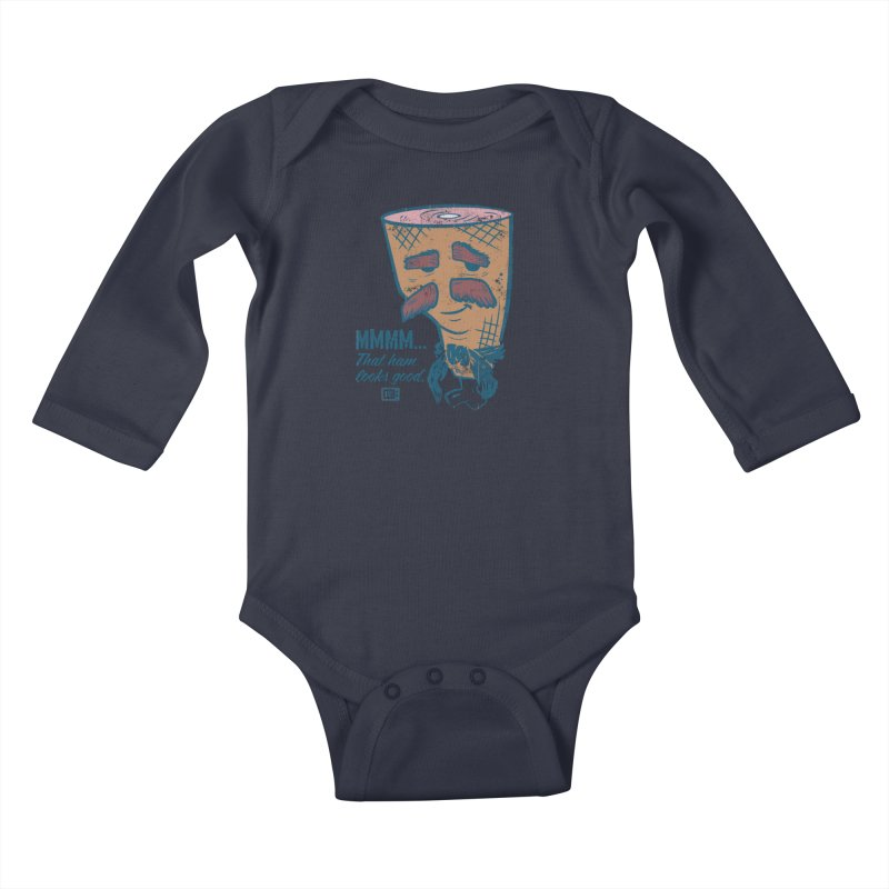 Sexy Ham Kids Baby Longsleeve Bodysuit by Saturday Morning Society