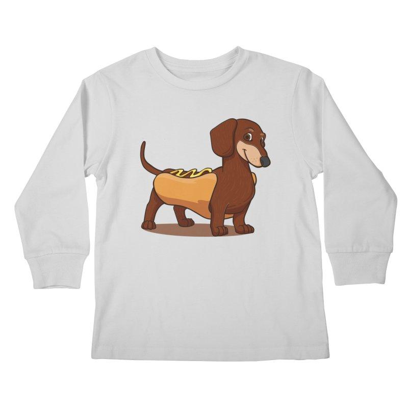 Hot Dawg Kids Longsleeve T-Shirt by Saucy Robot