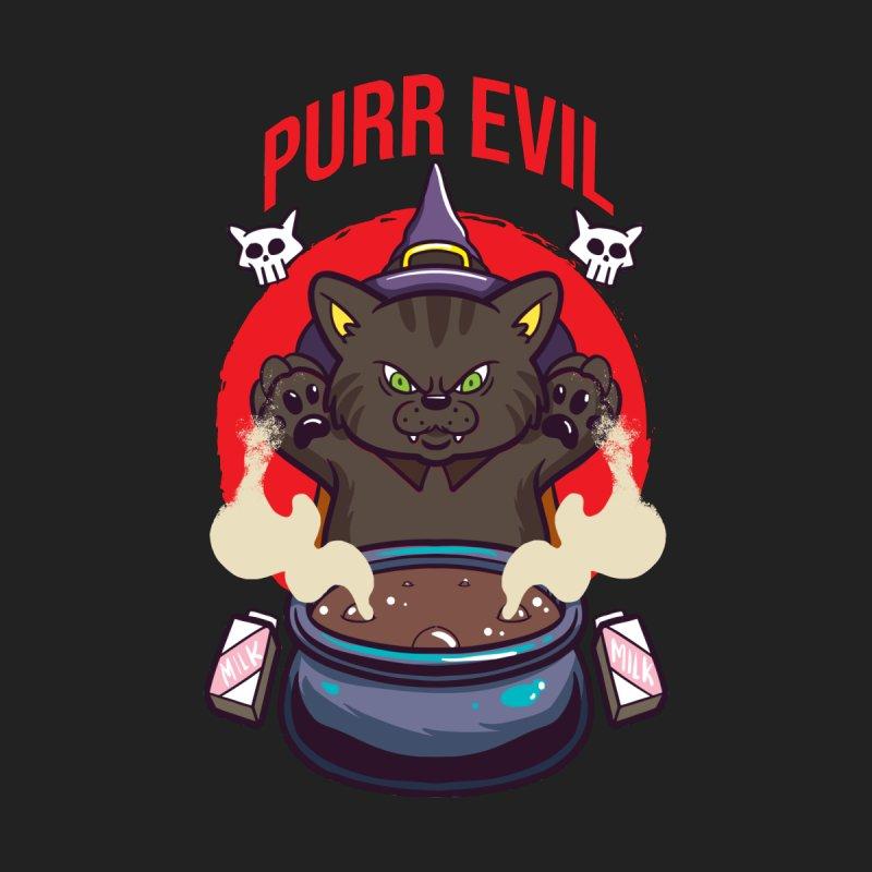 Purr Evil Men's T-Shirt by Saucy Robot