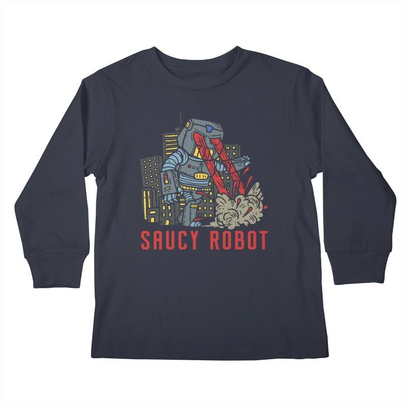 Saucy Robot Kids Longsleeve T-Shirt by Saucy Robot