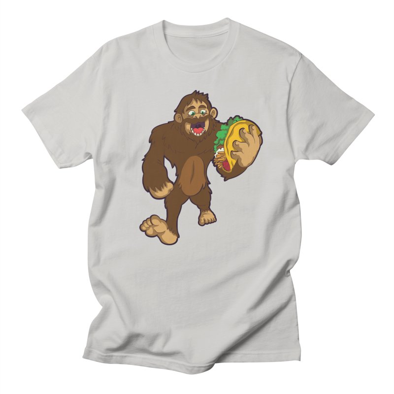 Bigfoot Taco Men's T-Shirt by Saucy Robot