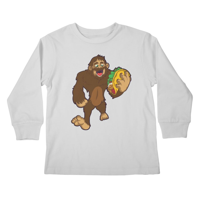 Bigfoot Taco Kids Longsleeve T-Shirt by Saucy Robot