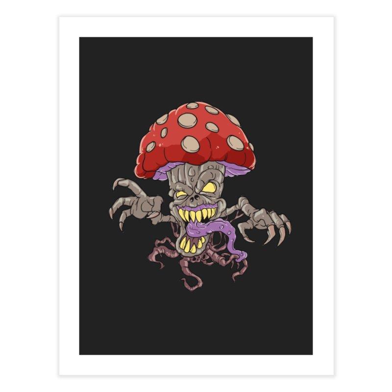 Bad Mushroom Trip Home Decor Fine Art Print by Saucy Robot
