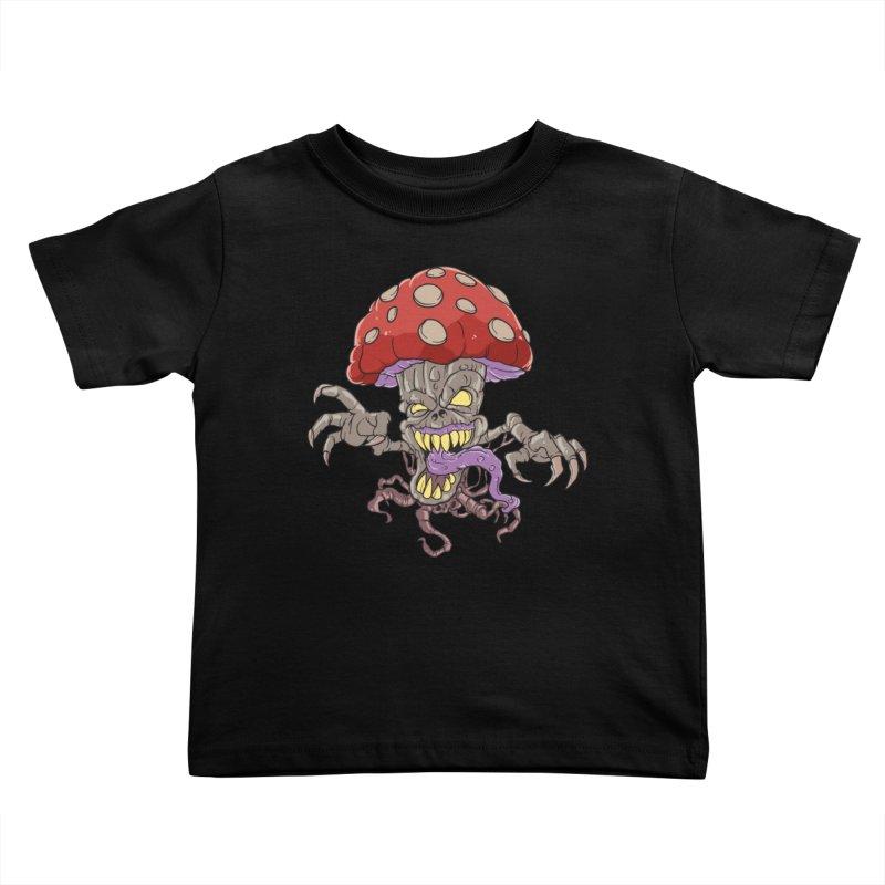Bad Mushroom Trip Kids Toddler T-Shirt by Saucy Robot