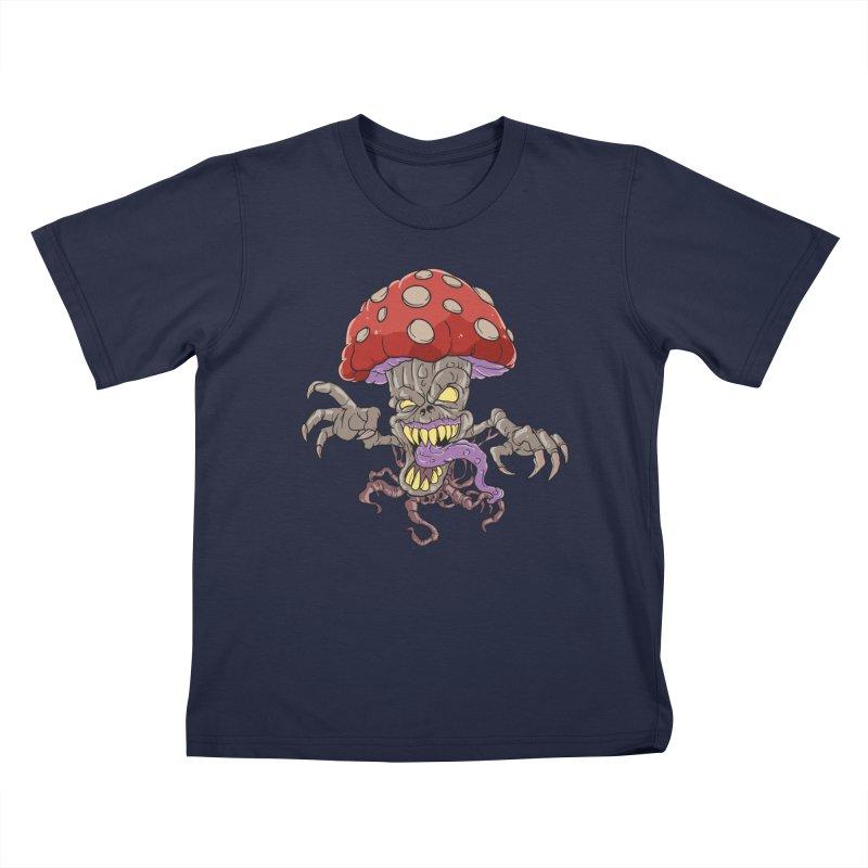 Bad Mushroom Trip Kids T-Shirt by Saucy Robot