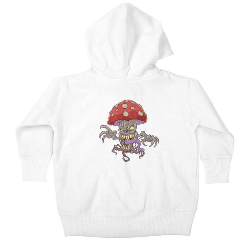 Bad Mushroom Trip Kids Baby Zip-Up Hoody by Saucy Robot