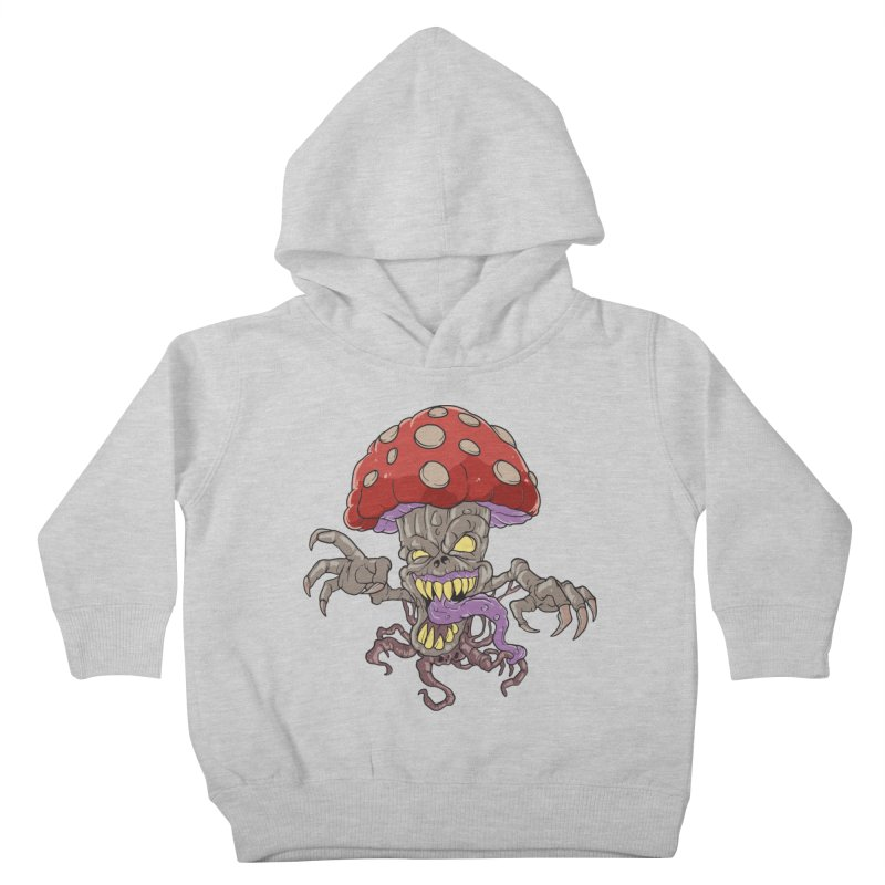 Bad Mushroom Trip Kids Toddler Pullover Hoody by Saucy Robot