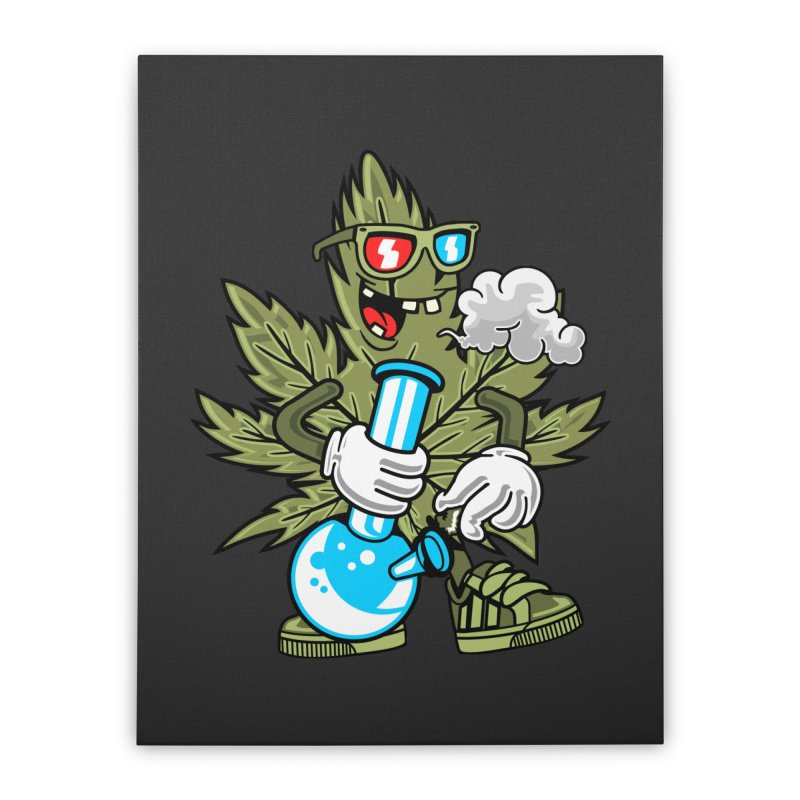 Weed Man Home Decor Stretched Canvas by Saucy Robot