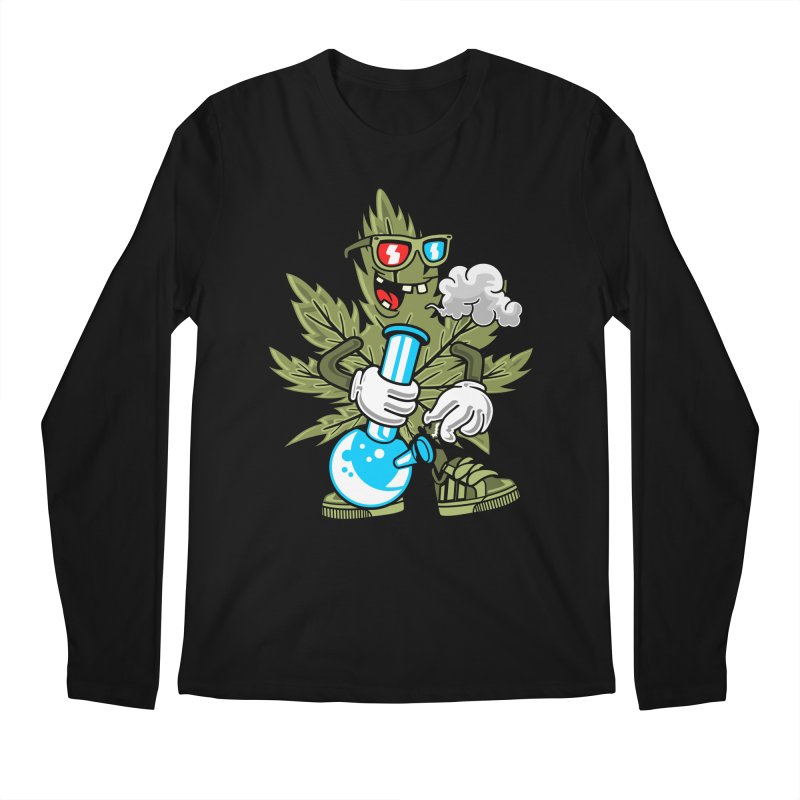 Weed Man Men's Longsleeve T-Shirt by Saucy Robot