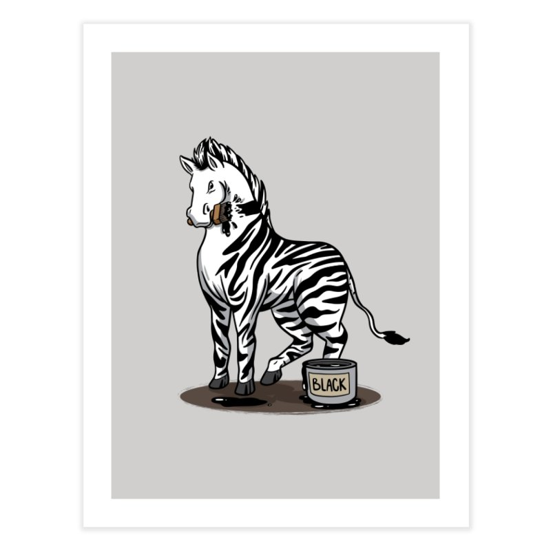 Making Of A Zebra Home Fine Art Print by Saucy Robot