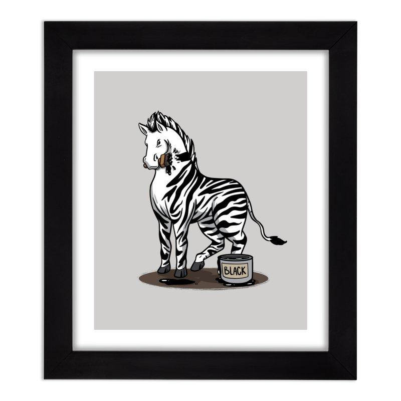 Making Of A Zebra Home Decor Framed Fine Art Print by Saucy Robot
