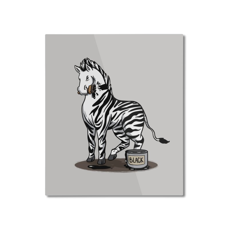 Making Of A Zebra Home Decor Mounted Aluminum Print by Saucy Robot