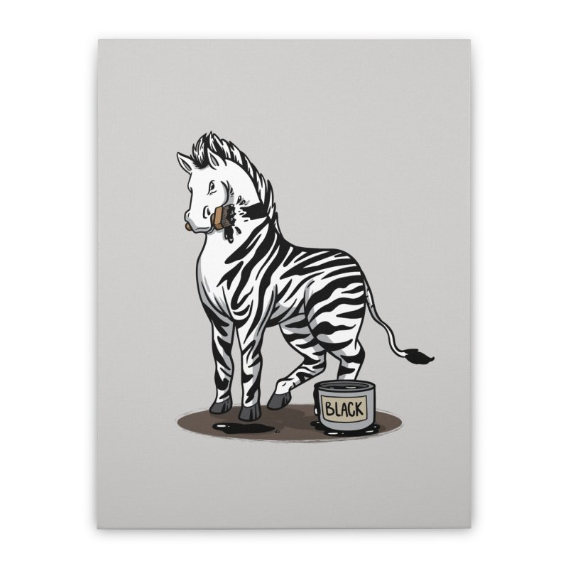 Making Of A Zebra Home Decor Stretched Canvas by Saucy Robot