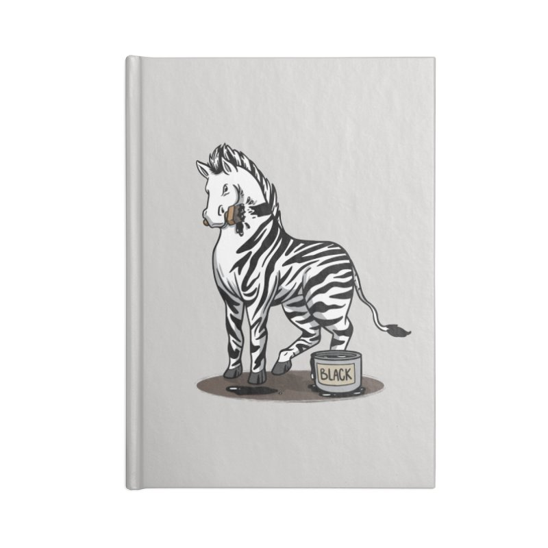 Making Of A Zebra Accessories Notebook by Saucy Robot