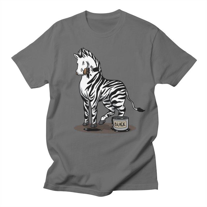 Making Of A Zebra Men's T-Shirt by Saucy Robot