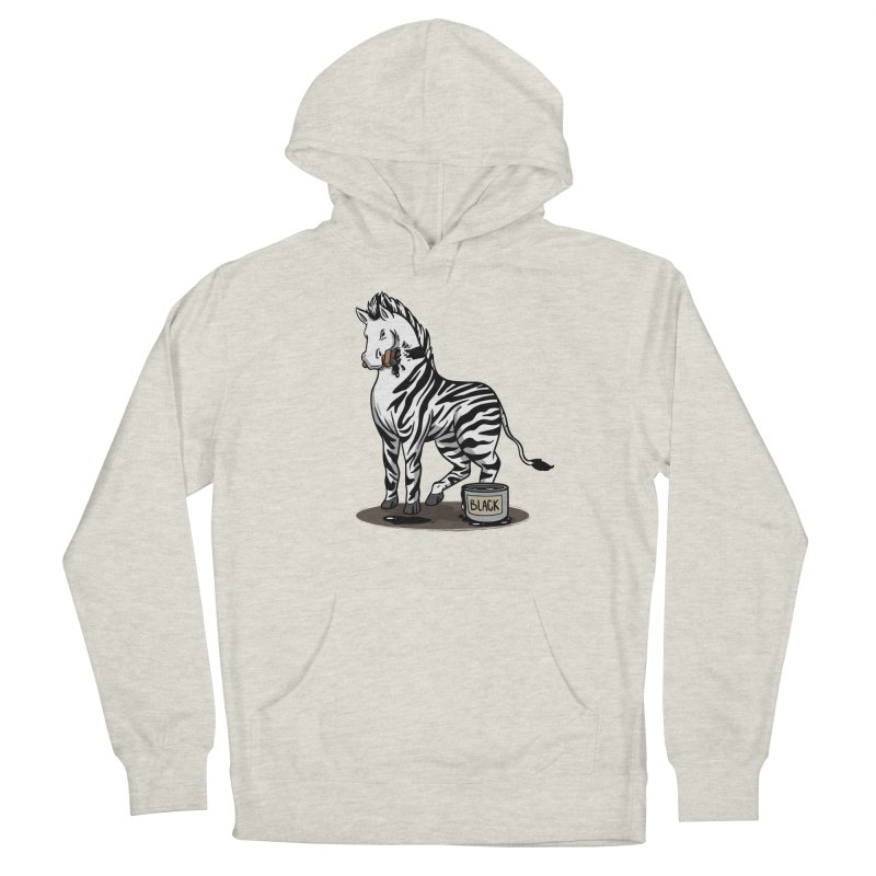 Making Of A Zebra Men's Pullover Hoody by Saucy Robot