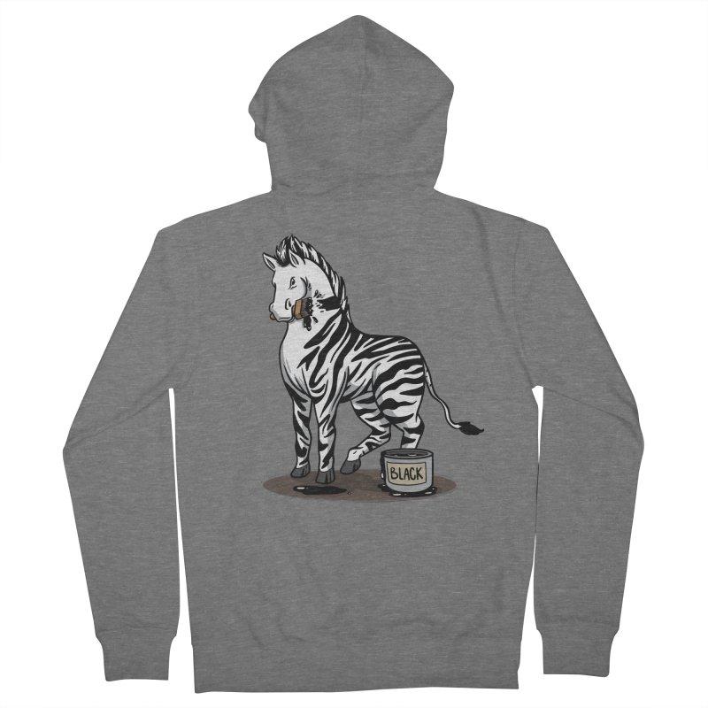 Making Of A Zebra Men's Zip-Up Hoody by Saucy Robot