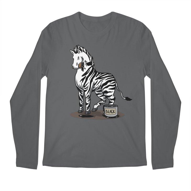 Making Of A Zebra Men's Longsleeve T-Shirt by Saucy Robot