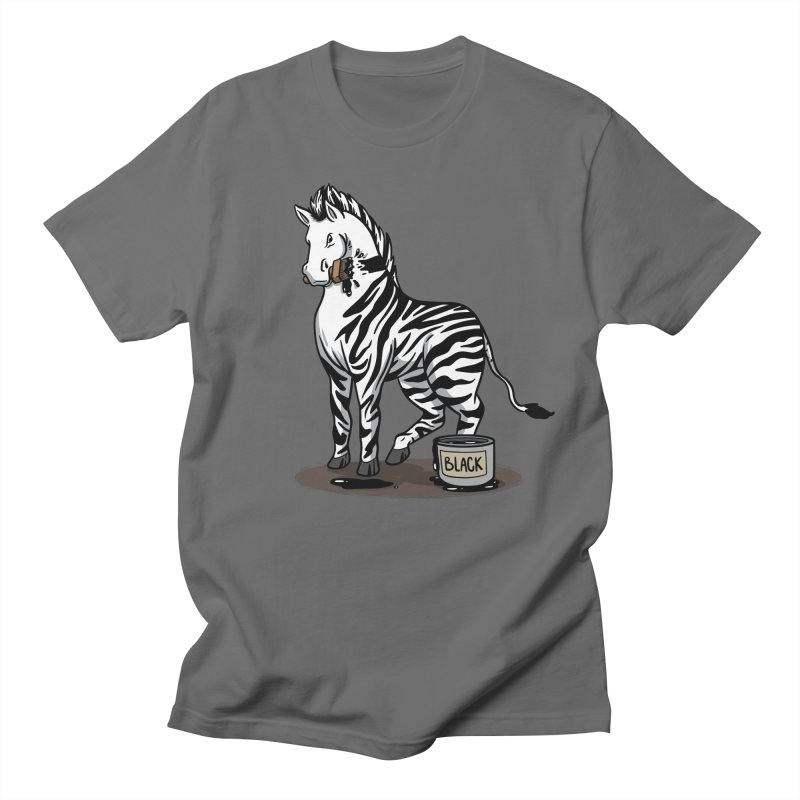 Making Of A Zebra Men's T-Shirt by Saucy Robot