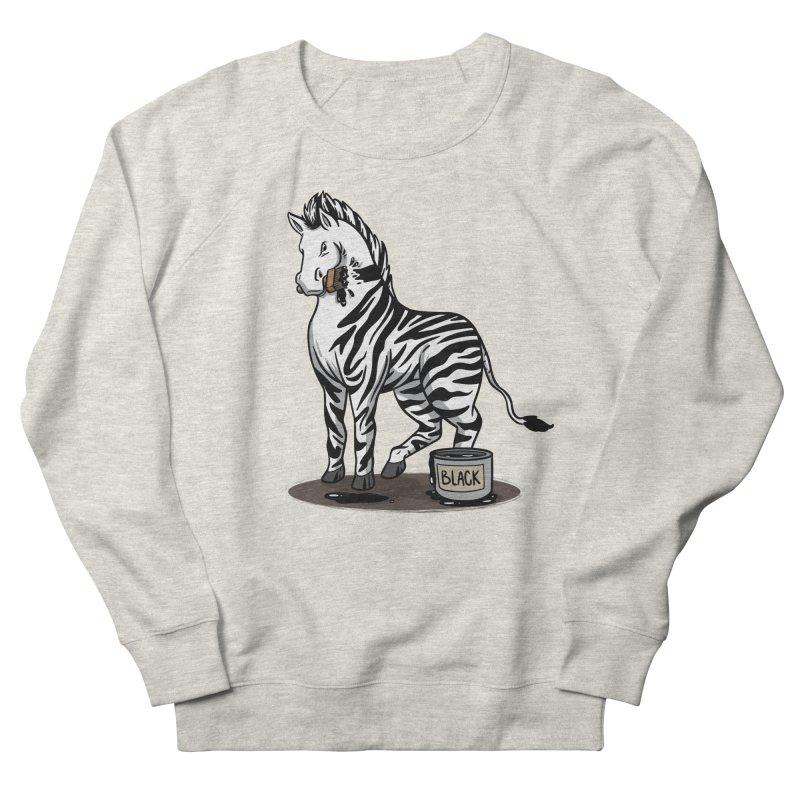 Making Of A Zebra Men's Sweatshirt by Saucy Robot