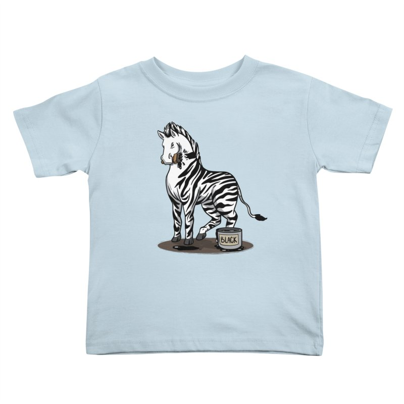 Making Of A Zebra Kids Toddler T-Shirt by Saucy Robot