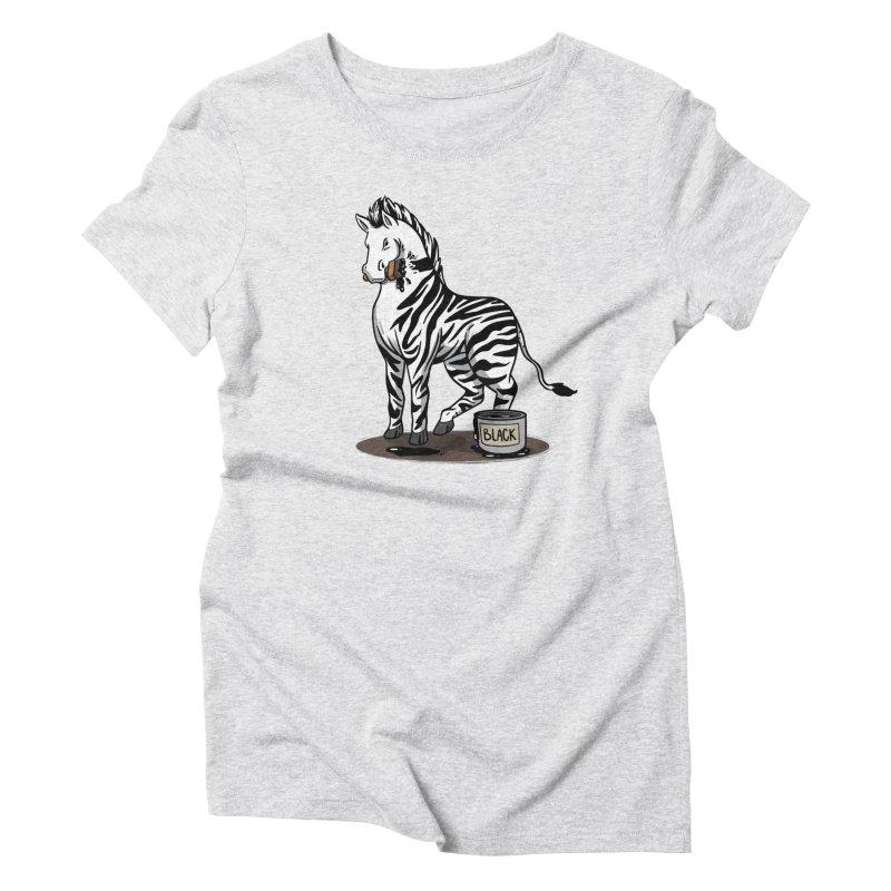 Making Of A Zebra Women's T-Shirt by Saucy Robot