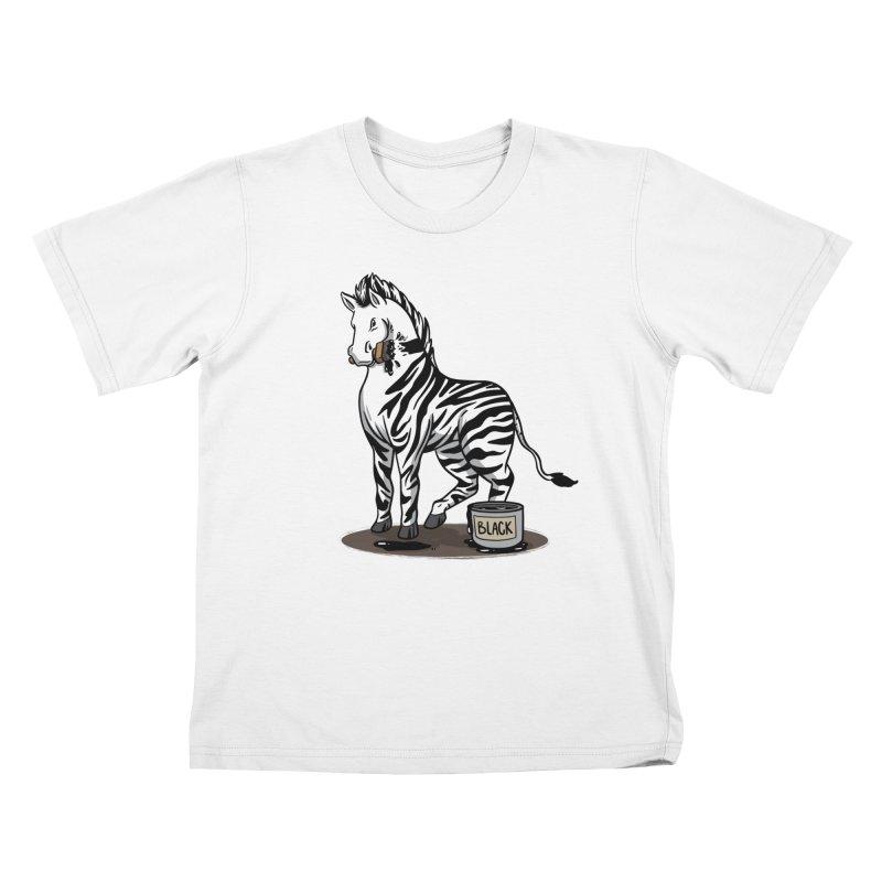 Making Of A Zebra Kids T-Shirt by Saucy Robot