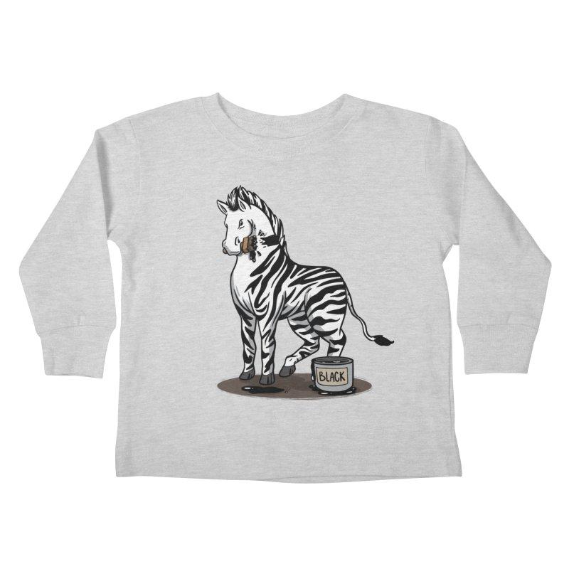 Making Of A Zebra Kids Toddler Longsleeve T-Shirt by Saucy Robot