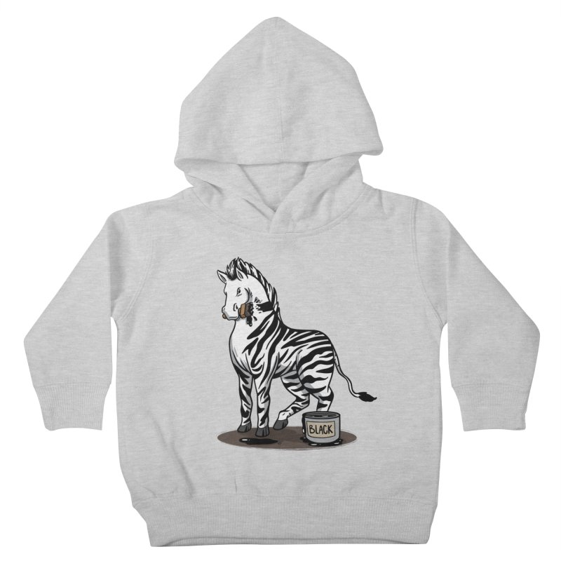 Making Of A Zebra Kids Toddler Pullover Hoody by Saucy Robot