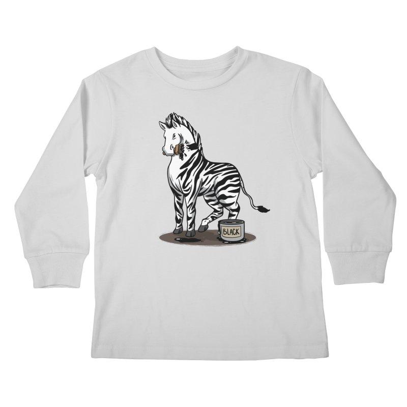 Making Of A Zebra Kids Longsleeve T-Shirt by Saucy Robot