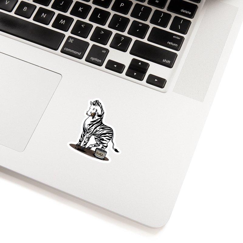 Making Of A Zebra Accessories Sticker by Saucy Robot
