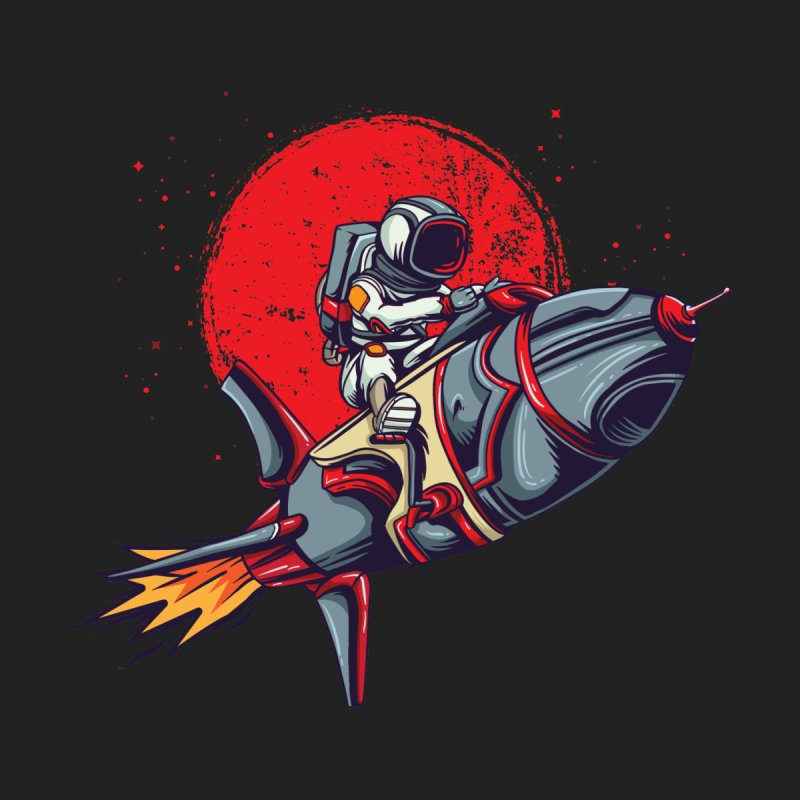 Rocket Riding Astronaut Women's Tank by Saucy Robot