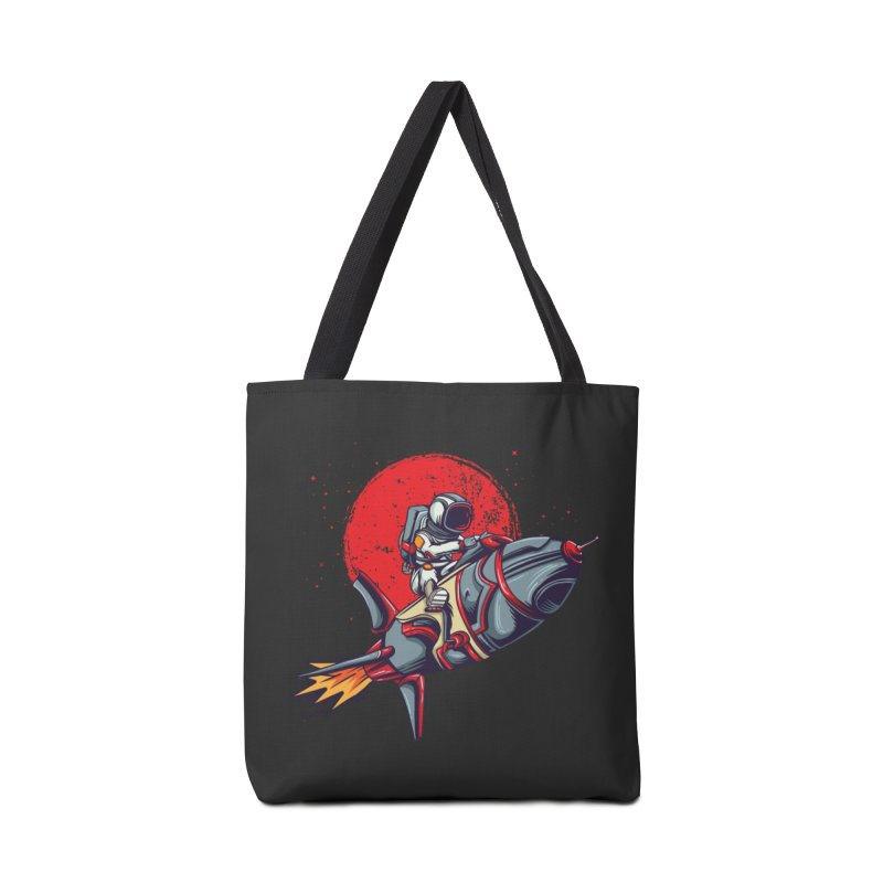 Rocket Riding Astronaut Accessories Bag by Saucy Robot