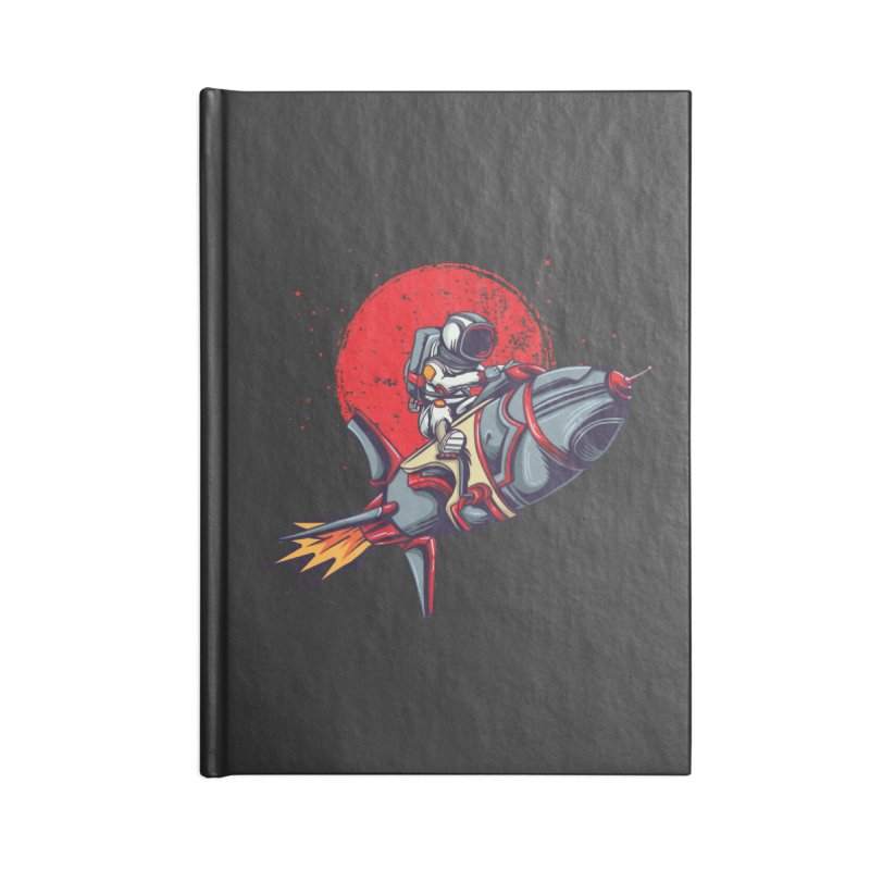 Rocket Riding Astronaut Accessories Notebook by Saucy Robot