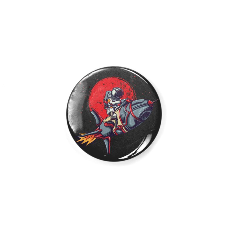Rocket Riding Astronaut Accessories Button by Saucy Robot