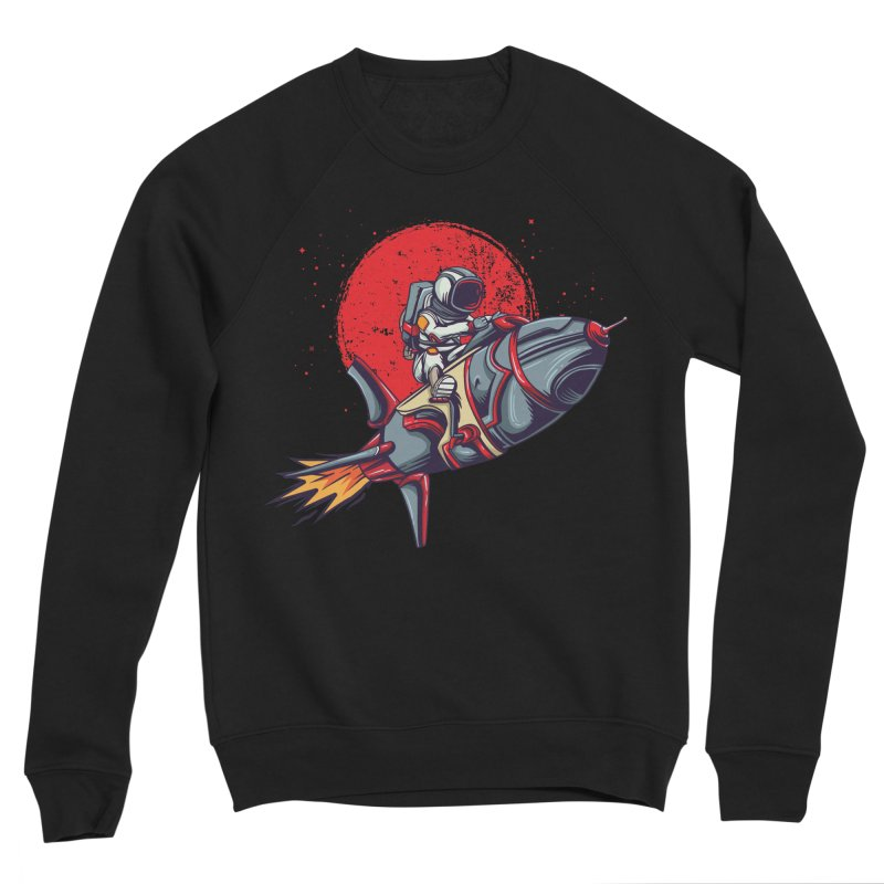 Rocket Riding Astronaut Women's Sweatshirt by Saucy Robot
